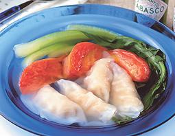 トマト海老スープ